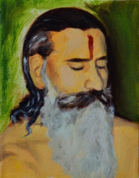 My Guru in meditation
